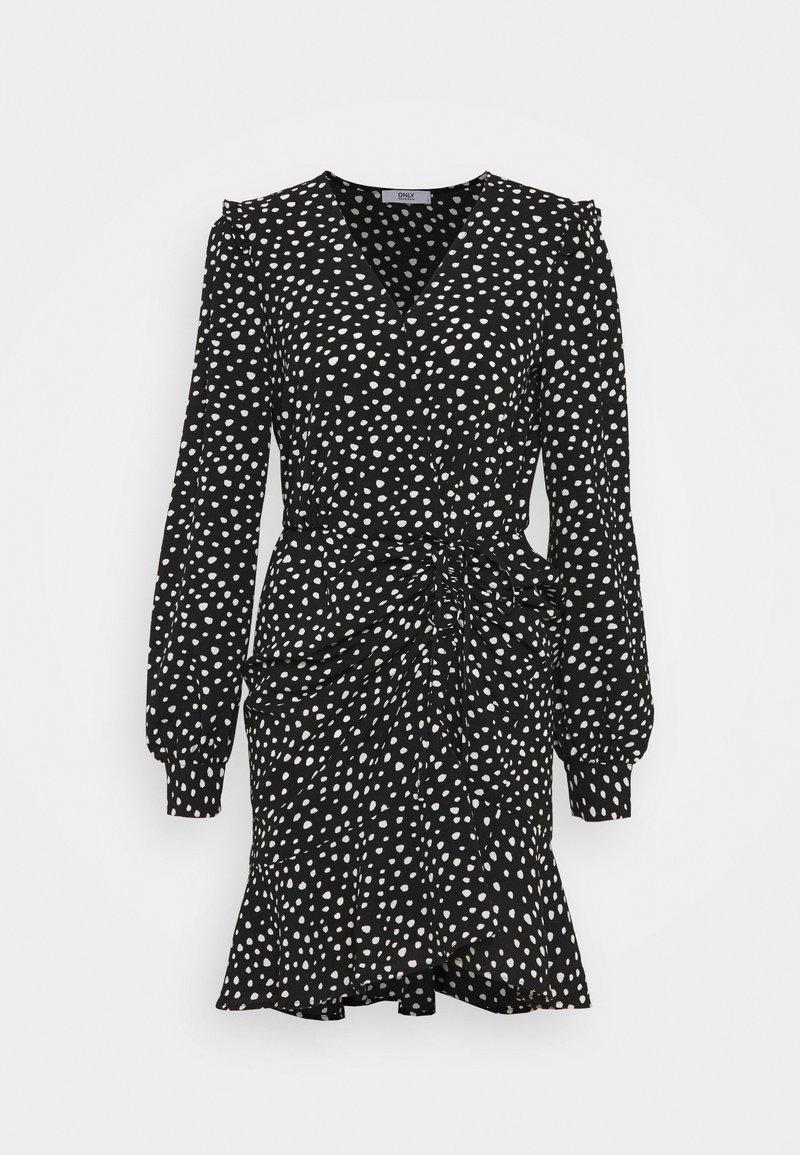 ONLY - ONLSANDY SHORT DRESS  - Day dress - black/white