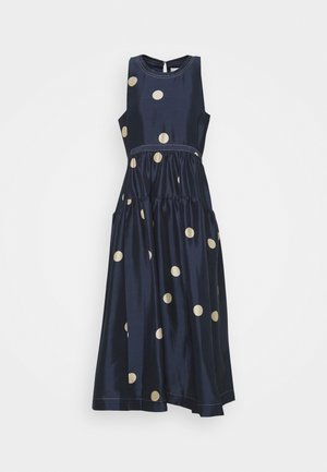 DOT PRINT BELTED MAXI DRESS - Koktejlové šaty / šaty na párty - midnight/beige