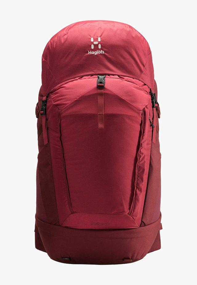 STRÖVA 65 - Sac de trekking - brick red/light maroon red s-m