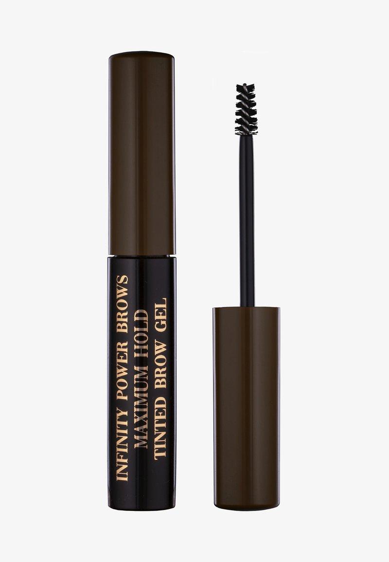 LH cosmetics - INFINITY POWER BROWS - MAXIMUM HOLD TINTED BROW GEL - Wenkbrauwgel - dark brown