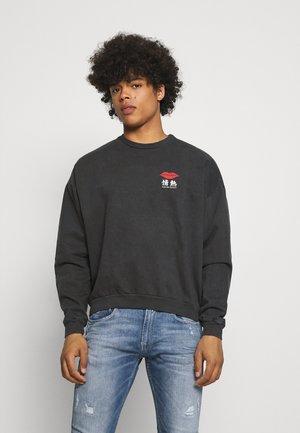 CREW JAPAN LIPS UNISEX - Sweatshirt - black wash