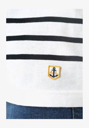PORT-LOUIS - MARINIÈRE - T-SHIRT - Long sleeved top - blanc rich navy