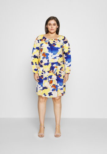DRESS BLOUSE STYLE - Day dress - big floral pattern