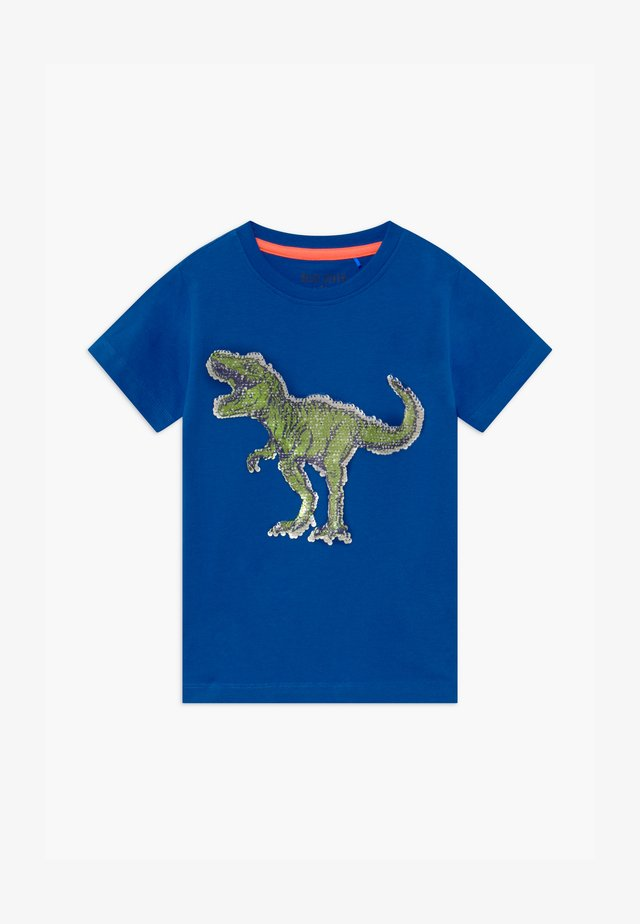SMALL BOYS T-REX DINOSAUR - T-shirt med print - royal