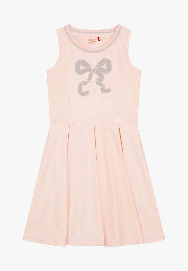 MET GEPRINTE REFLECTERENDE STRIK - Korte jurk - pink