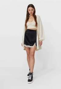 Stradivarius - A-line skirt - black