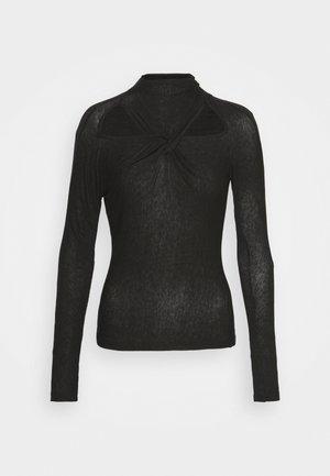 MAIA - T-shirt à manches longues - black