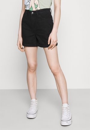 ONLVEGA LIFE MOM - Shorts di jeans - black denim