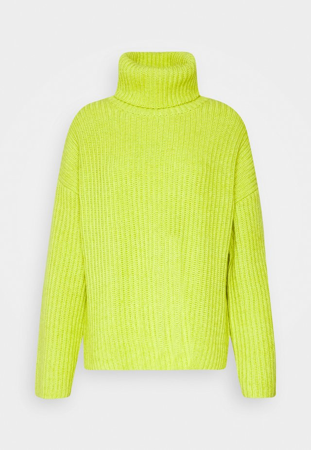 JUMPER TURTLENECK - Jumper - neon lime