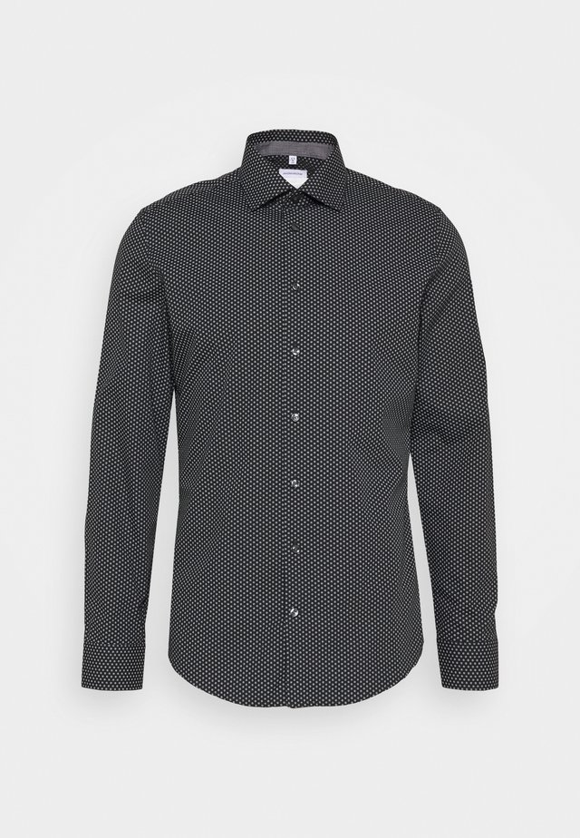 SLIM KENT PATCH - Camisa elegante - schwarz