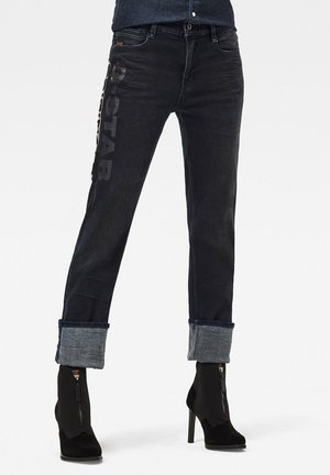 NOXER HIGH STRAIGHT AW - Straight leg jeans - worn in onyx blue