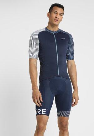 TRIKOT - T-Shirt print - marine blue/white