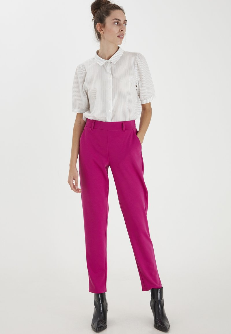 ICHI - IXKATE - Trousers - fuchsia red