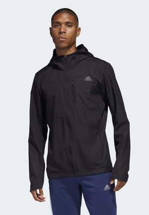 OWN THE RUN HOODED WINDBREAKER - Sportovní bunda - black