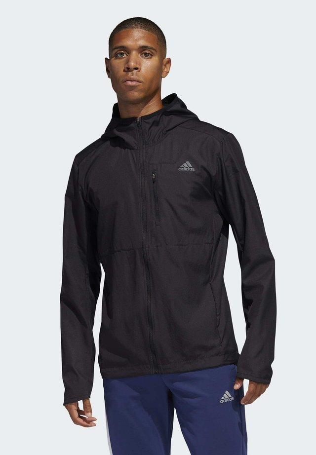 OWN THE RUN HOODED WINDBREAKER - Training jacket - black