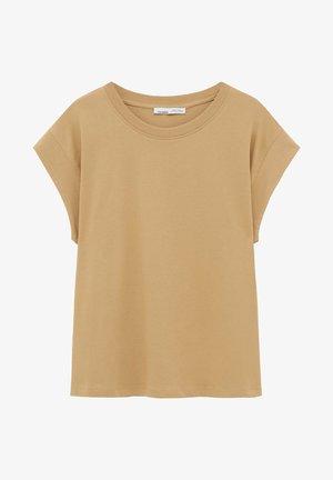 Jednoduché triko - beige