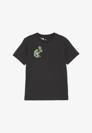 CAT LOGO TEE - Print T-shirt - carbon