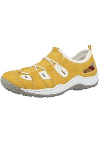 Rieker - Casual lace-ups - yellow/pure white - 2