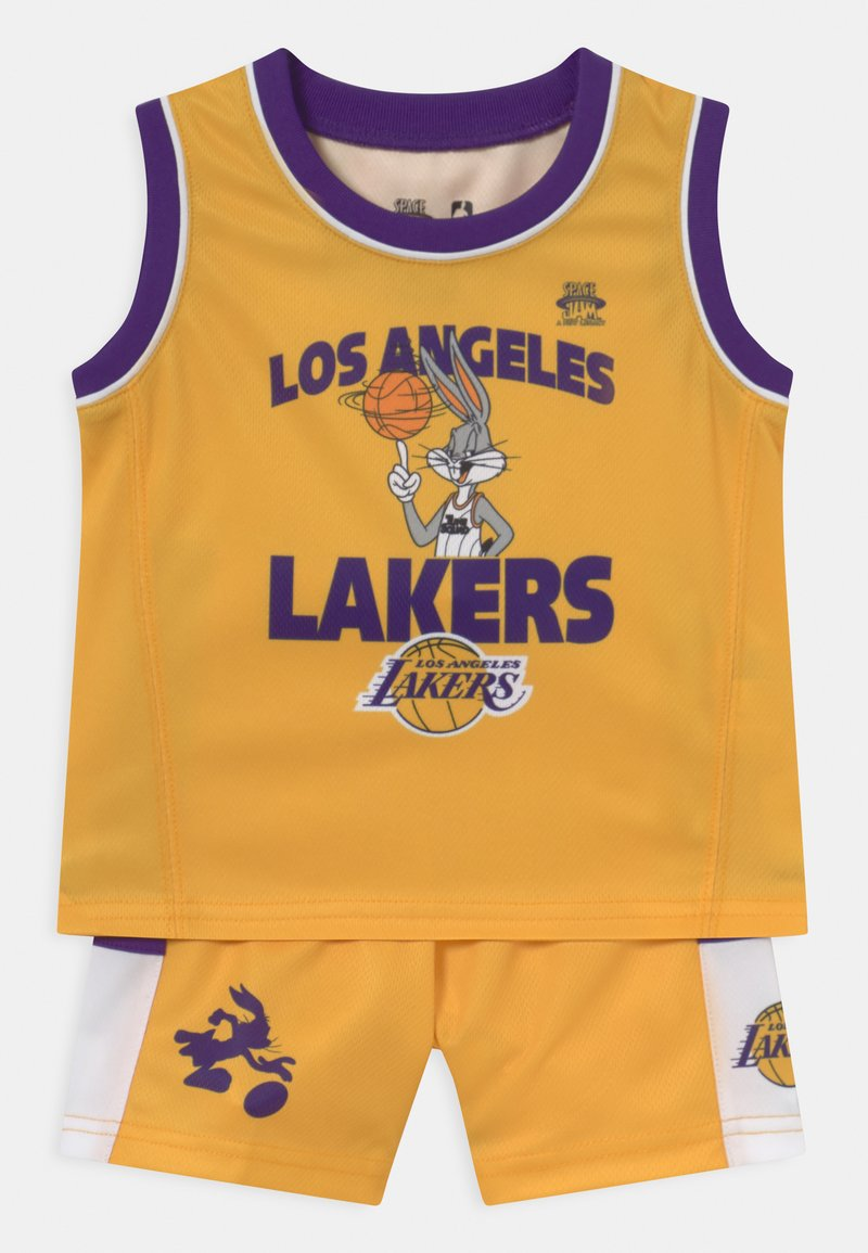 Outerstuff - NBA LOS ANGELES LAKERS SPACE JAM ZONE DEFENSE SET UNISEX - Club wear - yellow