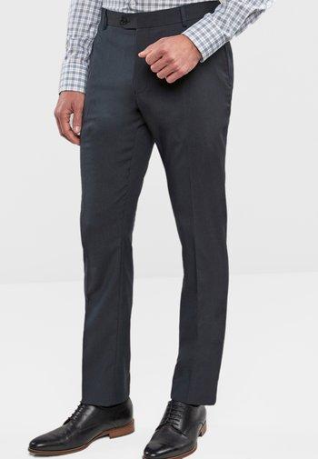 STRETCH TONIC SUIT: TROUSERS-SLIM FIT - Kostymbyxor - dark blue