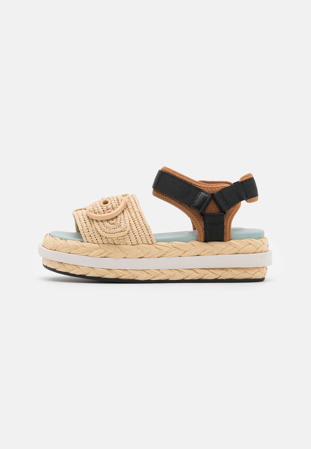 ACAPULCO - Platform sandals - warm gingerbread/natural