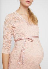 MAMALICIOUS - MLMIVANA DRESS - Vestido de cóctel - silver pink - 5