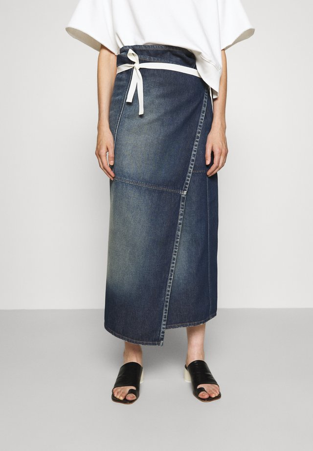 SKIRT - Denimová sukně - vintage wash