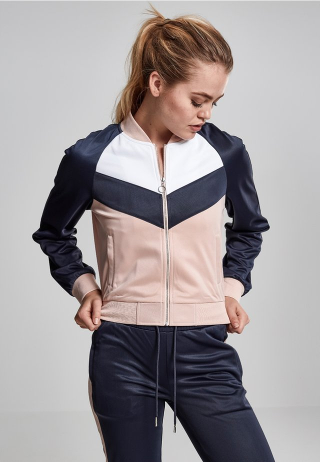 Blouson Bomber - light rose/navy/white