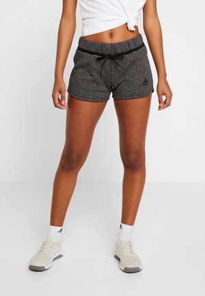 SHORT - Sports shorts - black melange