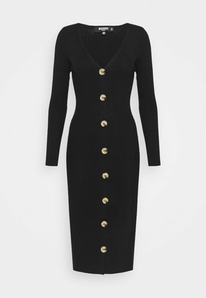 BUTTON FRONT DRESS - Etuikjoler - black
