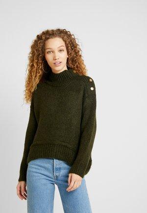 BUTTON - Pullover - khaki