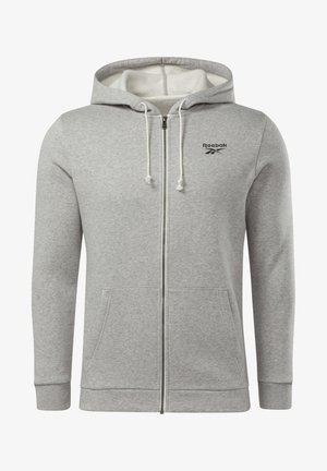 TRAINING ESSENTIALS FLEECE ZIP UP HOODIE - veste en sweat zippée - grey