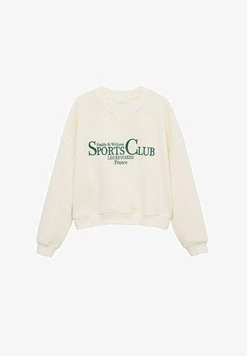 Sweatshirt - écru
