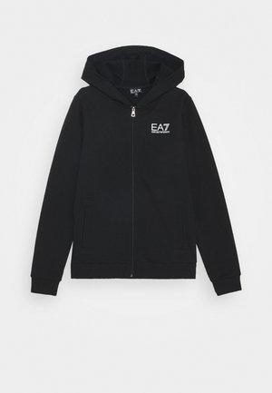 EA7 FELPA - Zip-up hoodie - black
