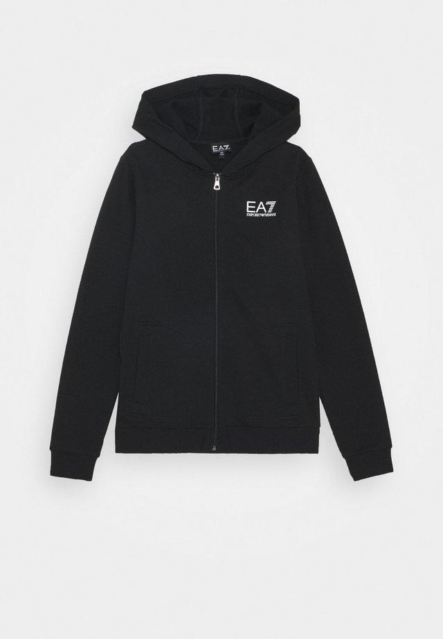 EA7 FELPA - Hettejakke - black