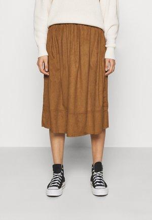 KIA MIDI - A-line skirt - cognac