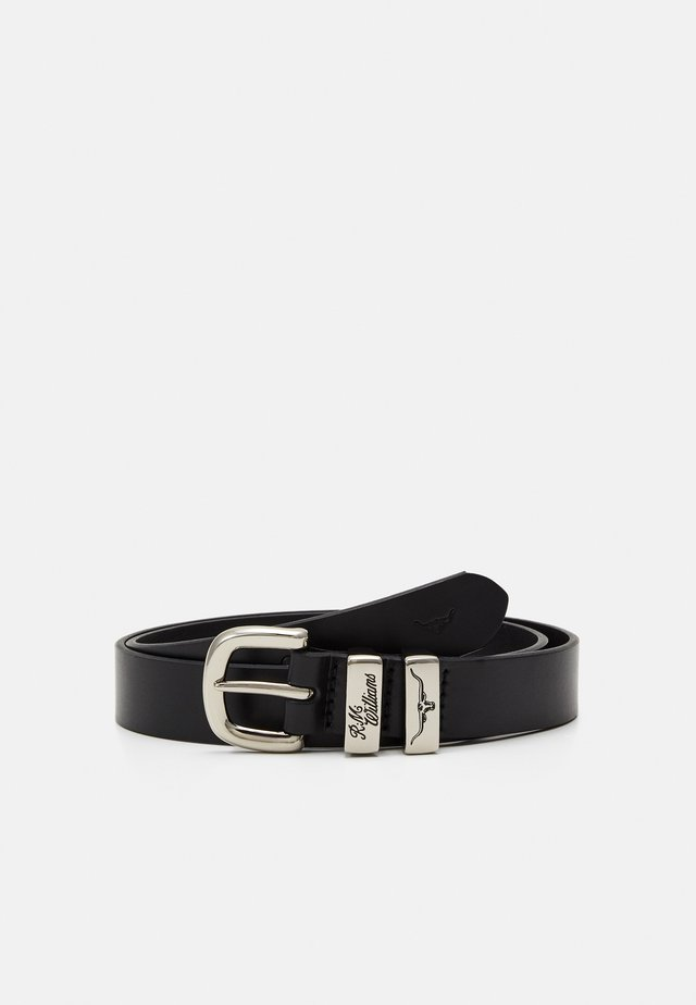 SOLID HIDE BELT - Skärp - black