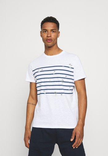 JORPLAYA STRIPE TEE CREW NECK - Print T-shirt - white