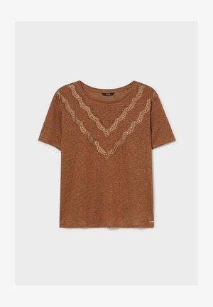 Print T-shirt - colour espresso
