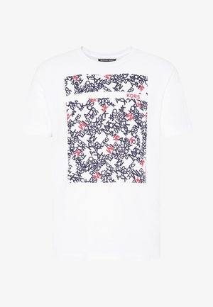 SCATTERED LOGO TEE - Print T-shirt - white
