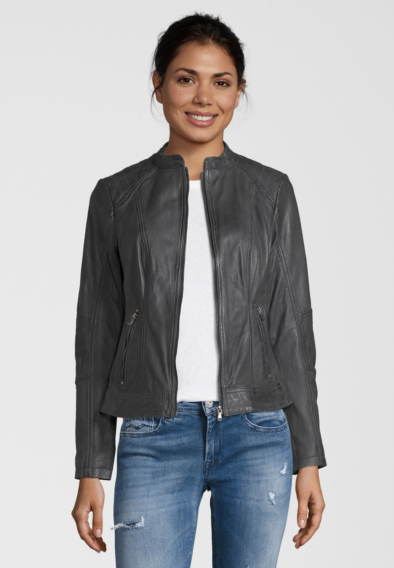 7eleven - CONA - Leather jacket - anthra