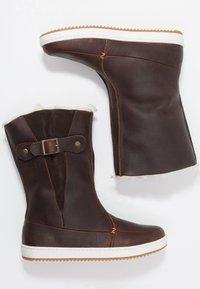 HUB - Śniegowce - dark brown/off white/dark gum - 3
