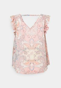 ONLY - ONLALLY CAPSLEEVE OPEN BACK - Topper - sugar coral - 1