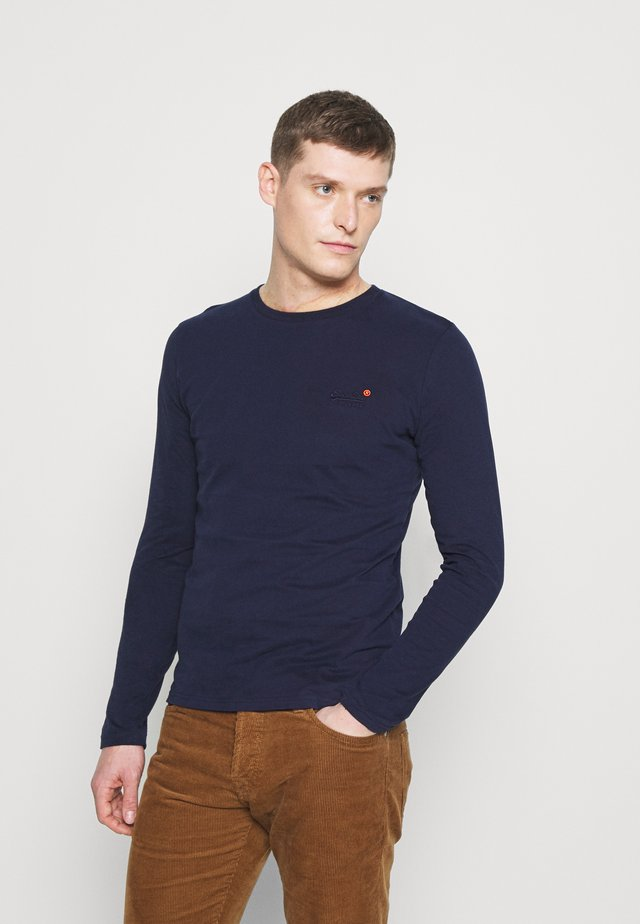 Topper langermet - rich navy