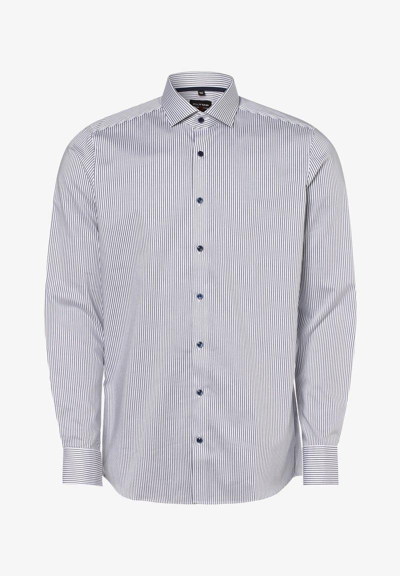 OLYMP - Shirt - weiß marine