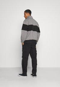 Topman - WEBBING - Cargo trousers - black - 2