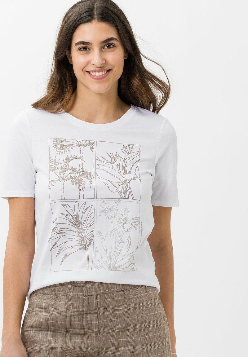 BRAX - STYLE CIRA - Print T-shirt - white