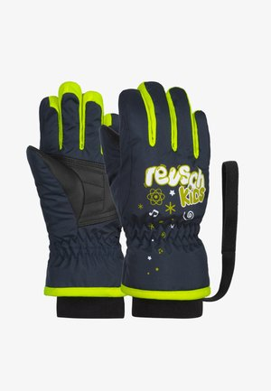 Gloves - dress blue / safety yellow