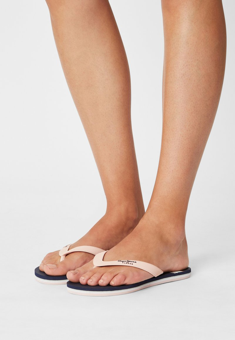 Pepe Jeans - BAY BEACH WOMAN - T-bar sandals - navy