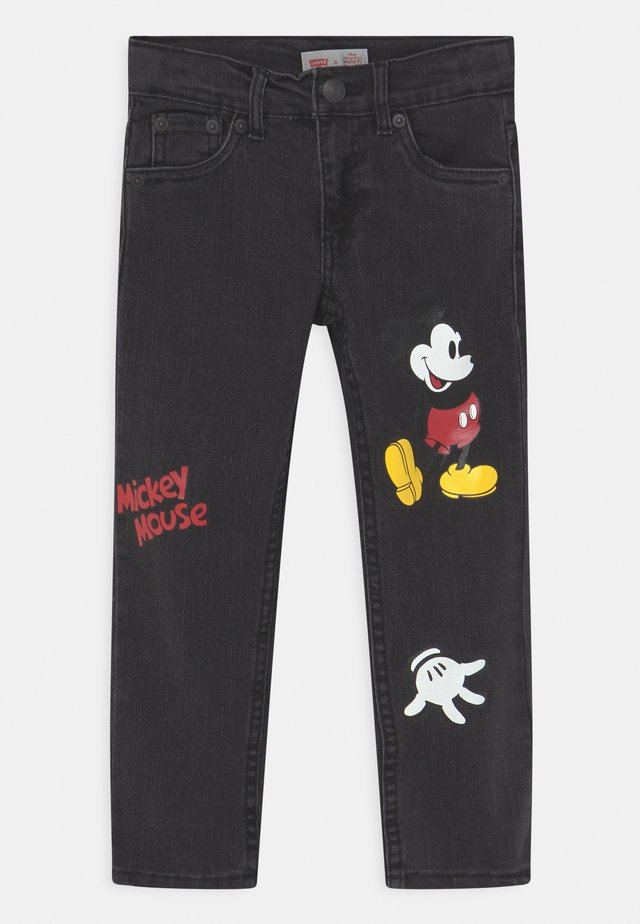 MICKEY MOUSE 511 SLIM UNISEX - Slim fit jeans - washed black